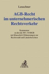 AGB-Recht im unternehmerischen Rechtsverkehr. Kommentar