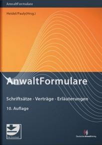 Anwaltformulare, mit Muster-Download