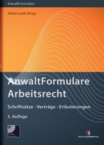 AnwaltFormulare Arbeitsrecht, mit CD-ROM