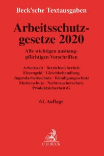 Arbeitsschutzgesetze 2020