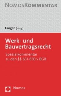 Werk- und Bauvertragsrecht. Handkommentar