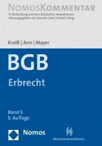 BGB-Gesamtausgabe. Band 5: Erbrecht