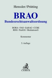 Bundesrechtsanwaltsordnung: BRAO. Kommentar