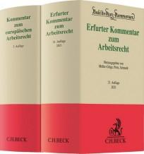 Erfurter Kommentar zum Arbeitsrecht + Kommentar zum europäischen Arbeitsrecht. Paket