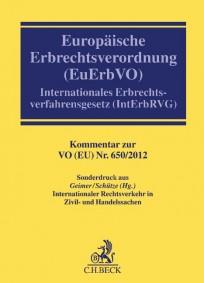 Europäische Erbrechtsverordnung (EuErbVO) Kommentar