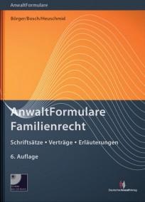 AnwaltFormulare Familienrecht, mit CD-ROM