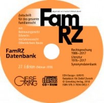 FamRZ Datenbank 27. Version 2018
