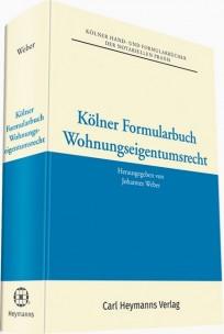 Kölner Formularbuch Wohnungseigentumsrecht