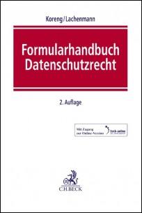 Formularhandbuch Datenschutzrecht