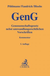 GenG. Genossenschaftsgesetz Kommentar