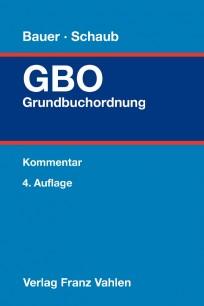 Grundbuchordnung: GBO-Kommentar