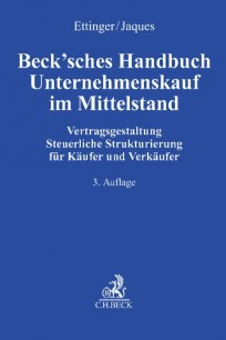 Beck'sches Handbuch Unternehmenskauf im Mittelstand