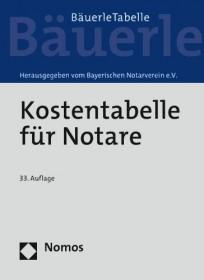Kostentabelle für Notare - Bäuerle Tabelle