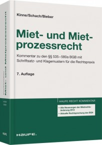 Miet- und Mietprozessrecht. Kommentar, mit CD-ROM