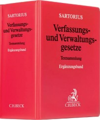 Sartorius. Verfassungs- und Verwaltungsgesetze. Ergänzungsband