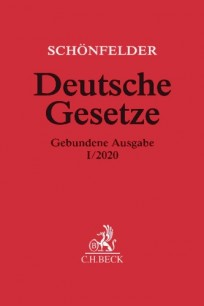 Schönfelder Deutsche Gesetze. Gebundene Ausgabe I/2020