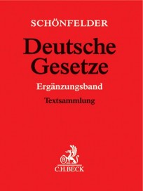 Schönfelder Deutsche Gesetze. Ergänzungsband