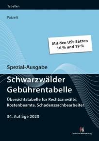 Schwarzwälder Gebührentabelle. Spezial-Ausgabe