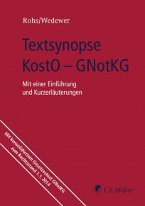Textsynopse KostO - GNotKG