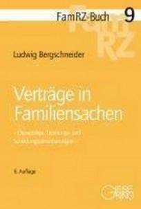 Verträge in Familiensachen