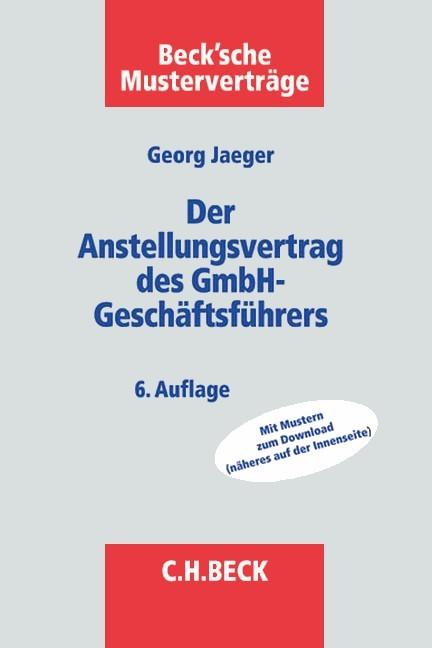 Der Anstellungsvertrag Des Gmbh Geschäftsführers Jäger Bücher