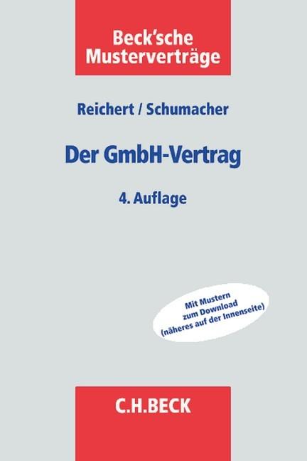 Der Gmbh Vertrag Reichert Schumacher Bücher Für Anwälte