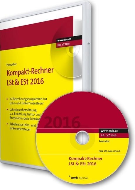 kompakt rechner lst est 2016 cd rom poxrucker poxrucker b cher f r anw lte. Black Bedroom Furniture Sets. Home Design Ideas
